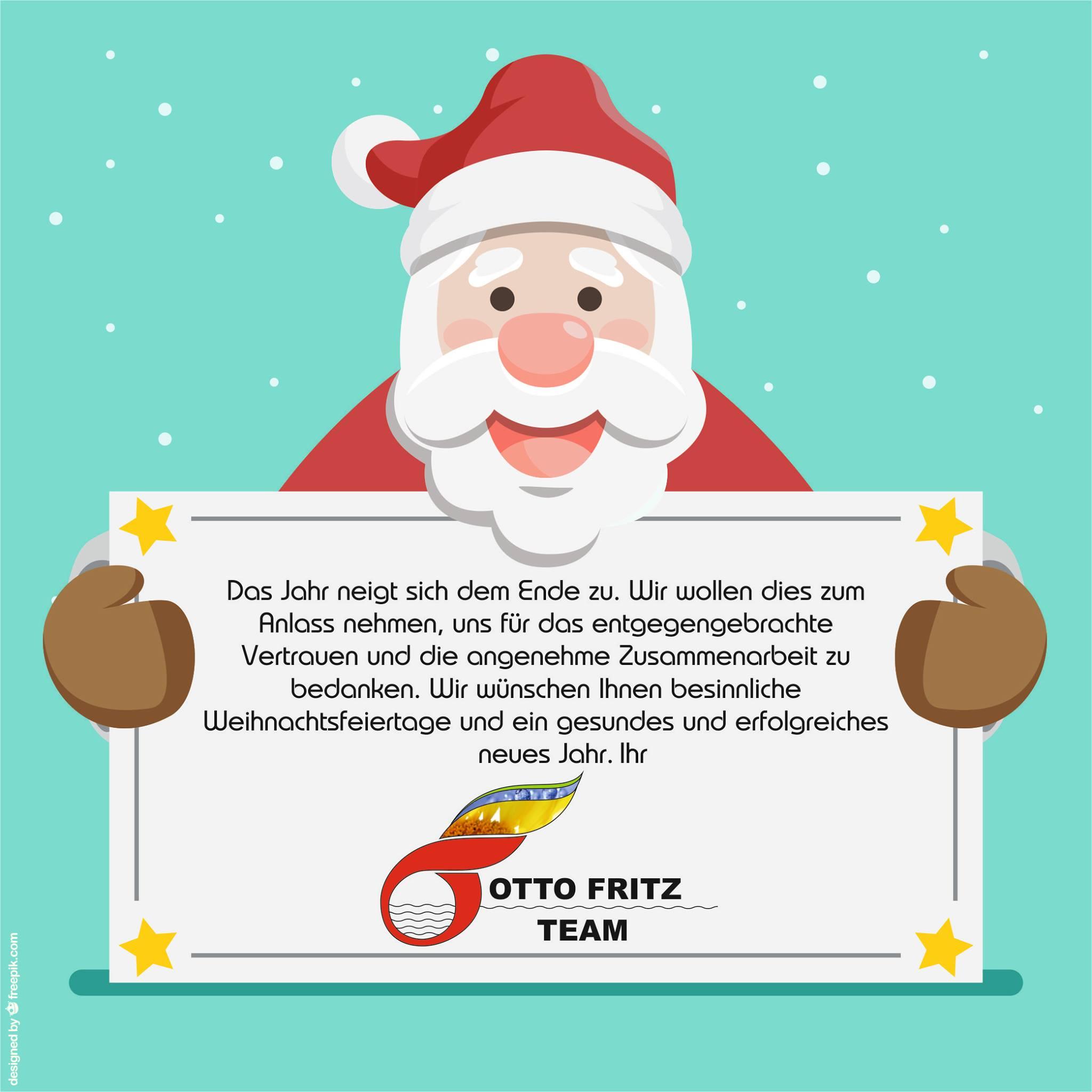Wir Wünschen Euch Frohe Und Besinnliche Weihnachten.Otto Fritz Gmbh Frohe Weihnachten
